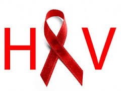 HIV Ribbon and Words