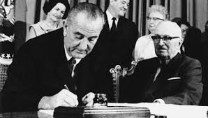 President Lyndon B. Johnson Signs Medicare Bill July 30 1965