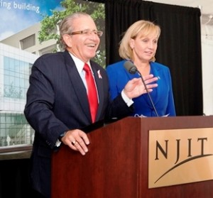 NJIT President Joel S. Bloom and Lt. Gov. Kim Guadagno