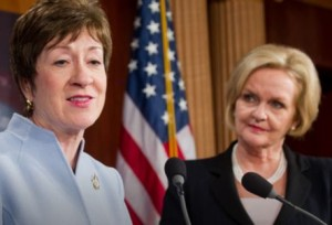 Senators Susan Collins and Claire McCaskill