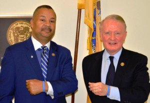 (L. to r.) Congressmen Donald Payne, Jr. and Leonard Lance