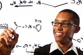 Students boy with glasses formula